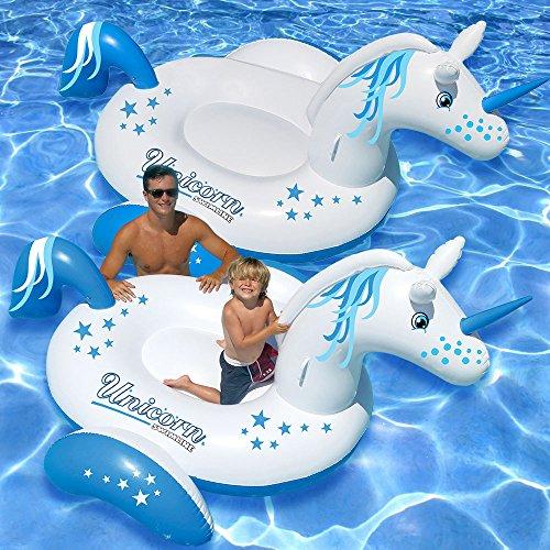 Swimline Giant Unicorn Ride-On Swimming Pool Float, 2-Pack