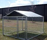 King Canopy Dog House Kennel Cover – 10 by 10 -Feet Silver, My Pet Supplies