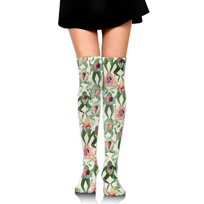 3e49997d3 Zaqxsw Frog Animal Women Fashion Thigh High Socks Over The Knee Socks For Teen  Girls