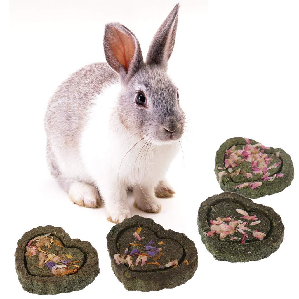 CADANIA 2 Piezas Pet Hamster Dientes de Molienda Hierba Cake Guniea Cerdo Conejo Chinchilla Masticar Juguete