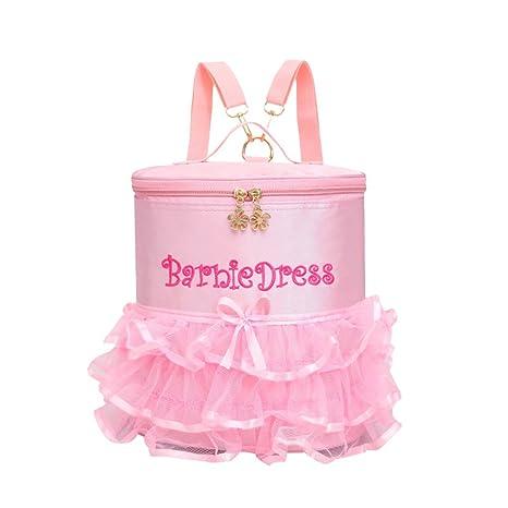 luoem Niñas Mochila de ballet rosa bordado bolsa para ...
