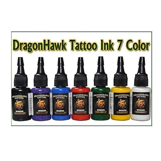 Juego completo de tatuaje profesional, 2 armas de máquina superior, 7 tintas, 50 fuentes de alimentación: Amazon.es: Salud y cuidado personal