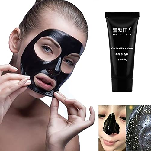 Sanwood Nose Blackhead Remover Acne Treatment Mask Peel Off Black Head Mud Facial Mask Eye Shield 0.7oz