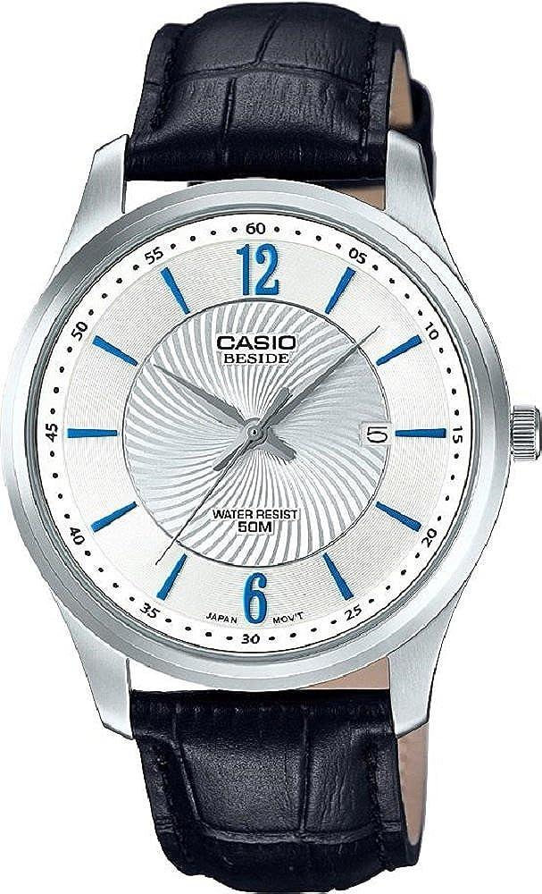 Casio Men's Beside Bem 151 L 7 Avdf Black Leather Dress Watch by Casio