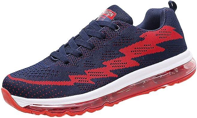 Fannyfuny Zapatillas Deporte Hombres Casuales Zapatos para Correr Athletic Sneakers Al Aire Libre High-Top Asfalto Antideslizante Deportivas Zapatillas Ligeros Respirable Transpirable Lace Up: Amazon.es: Zapatos y complementos