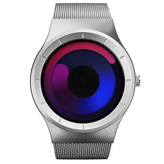 d4714c7138ae SINOBI Reloj De Cuarzo Deportivo para Hombre con Diseño De Acero Inoxidable  y Personalidad De con Pulsera De Malla 02  Amazon.es  Relojes