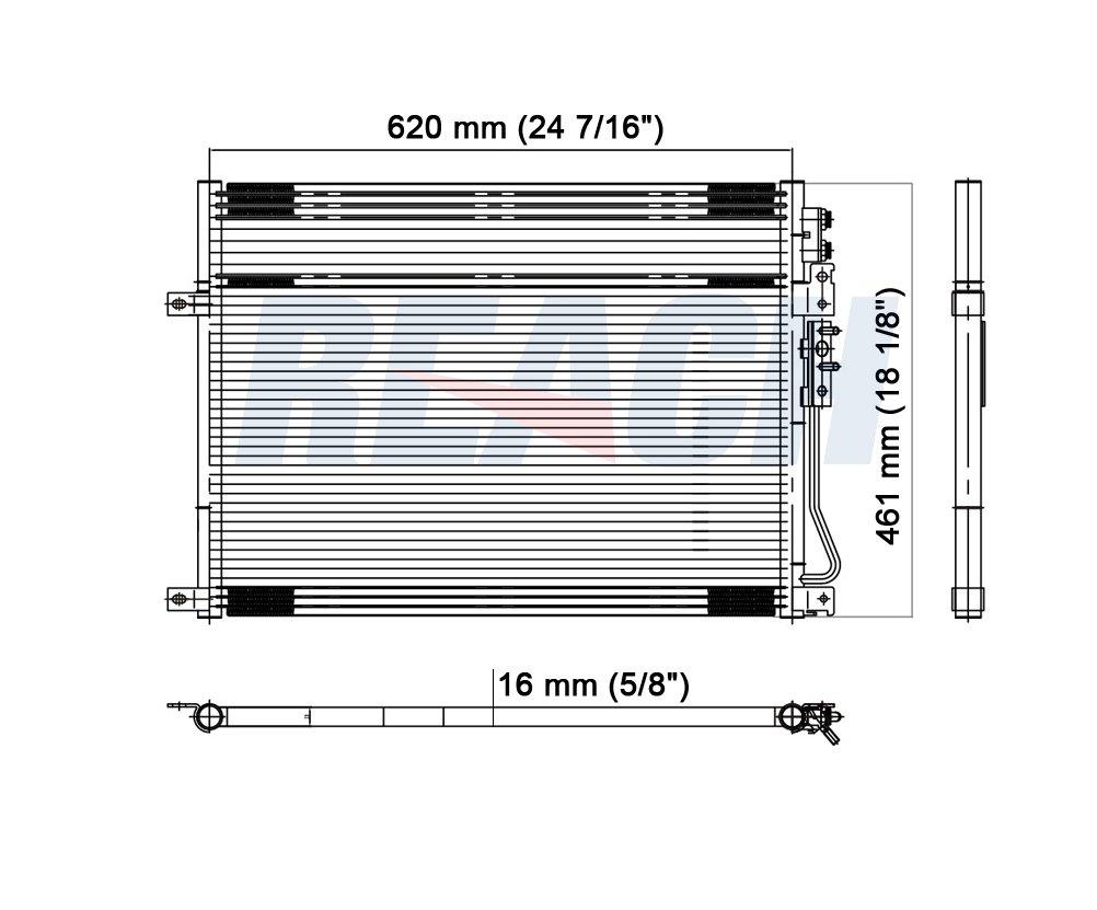 Condenser For Grand Cherokee Commander 3.0 3.7 V6 4.7 5.7 6.1 V8 Reach Cooling REA31-3247P