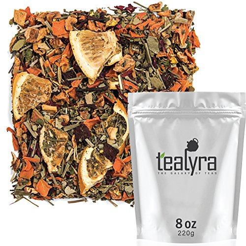 Tealyra - Orange Lemonade - Hibiscus - Eucalyptus - Lemongrass - Herbal Fruity Loose Leaf Tea Blend - Vitamins Rich - Boost Immune System- 100% Natural - Hot and Iced - Caffeine-Free - 220g (8-ounce)