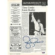 Royce Gracie Signed UFC 8.5x11 Magazine Article COA 1996 Photo Autograph - PSA/DNA Certified - Autographed UFC Magazines