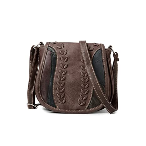 Cyber Deals Monday Deals Sales 2018-Handicrafts Women s Saddle Bag Vintage  Style Genuine Leather Cross 11afdb3f561de