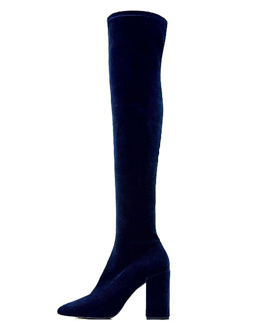 a1520ff27241 Zara Women Velvet over the knee high heel boots 6006 201 (39 EU