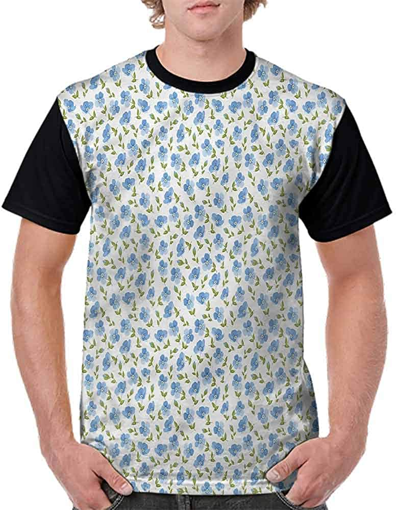 Classic T-Shirt,Old Vintage Flowers Fashion Personality Customization