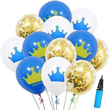 Amazon.com: 36 globos de confeti dorados con diseño de ...