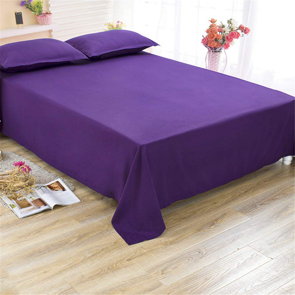 Simple and Stylish, Cotton Sheets, Dry and Breathable, Durable Deep Purple 150230cm by iangbaoyo