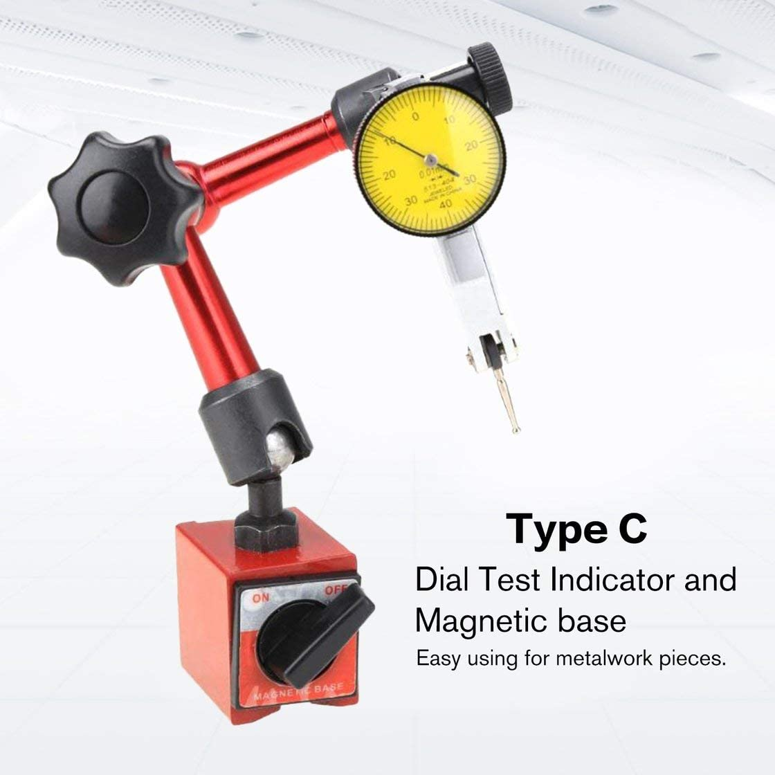 Dial Test Indicator Magnetic Base Universal Holder Correction Stand Measurement