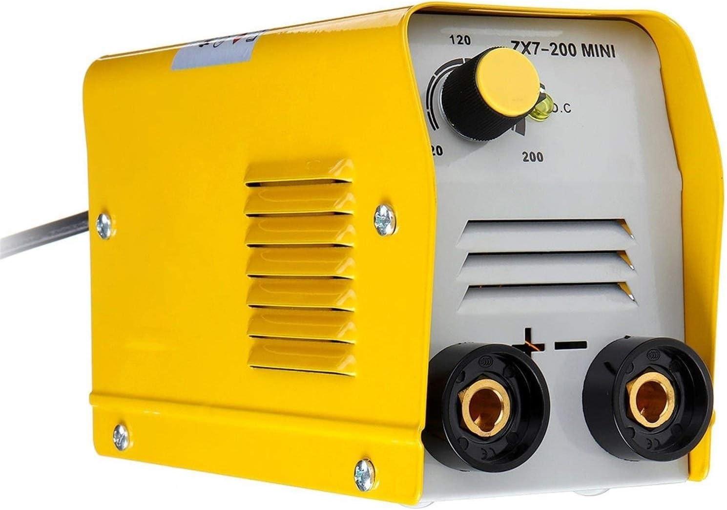 Portátil Máquina de soldadura eléctrica, soldadura 200a 220v pequeña máquina eléctrica de CC de IGBT inversor Arco Mma varilla de soldadura de la máquina Herramientas eléctricas ( Color : Yellow )