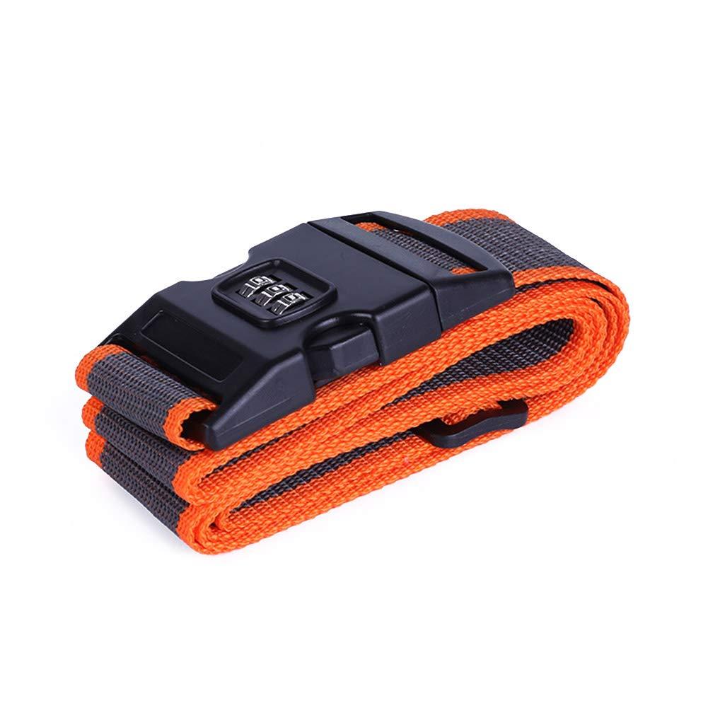 Correas de Equipaje de Viaje Ajustable Maleta de Equipaje Cinturones con combinaci/ón de 3 Bloqueo de la marcaci/ón de Viajes Embalaje Cintur/ón Gris Naranja