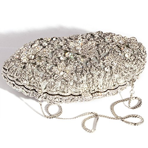 Bags Sequins Bling Silver women Evening Crystal Luxury Shape Clutch Digabi Rectangle Purses vqxUAAg