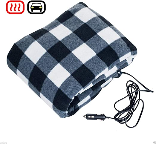 Younar 12V Car Heating Blanket,Fleece Electric Blanket for Road Trips and Camping,59x43.3