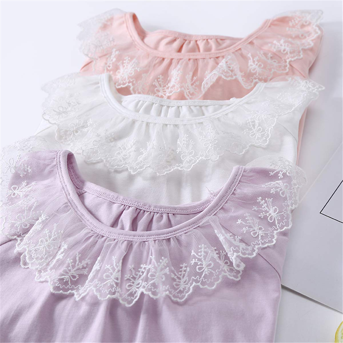 Ameyda Girls Nightgown with Lace 3-13 Years