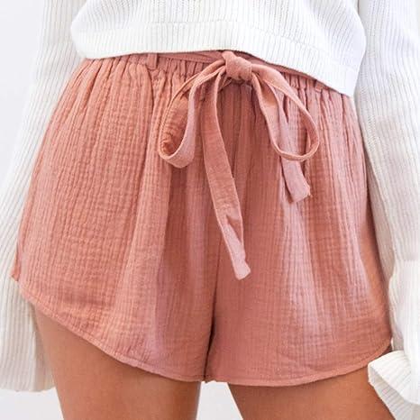 NSDKFF Pantalones Cortos De Mujer Carretera De Verano Shorts ...