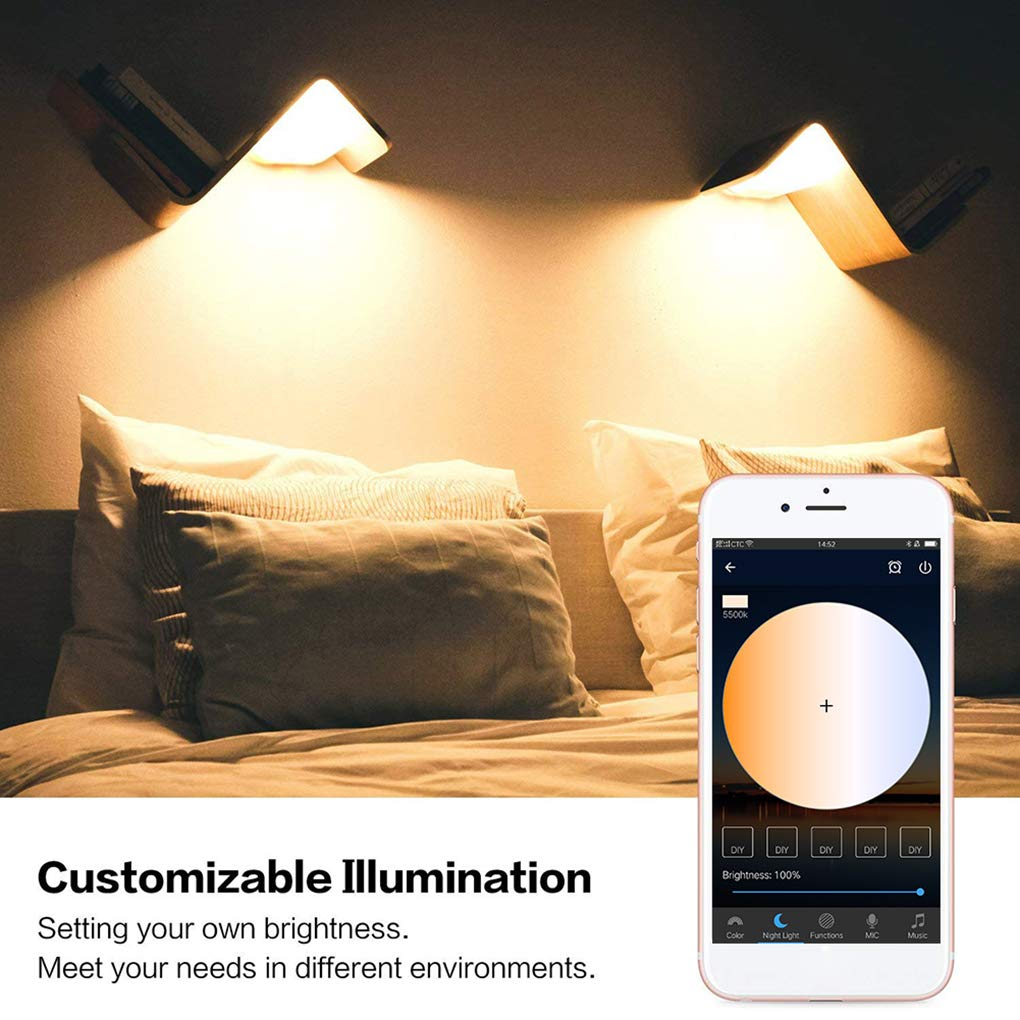 Beaums Bulbo 4.5W RGB LED Smart Home Bluetooth Cambio de Color de la l/ámpara Regulable Compatible con Alexa P/ágina Principal de Google