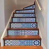 Wall Stickers,Elaco DIY Steps Sticker Removable Stair Sticker Home Decor Ceramic Tiles Patterns (B)