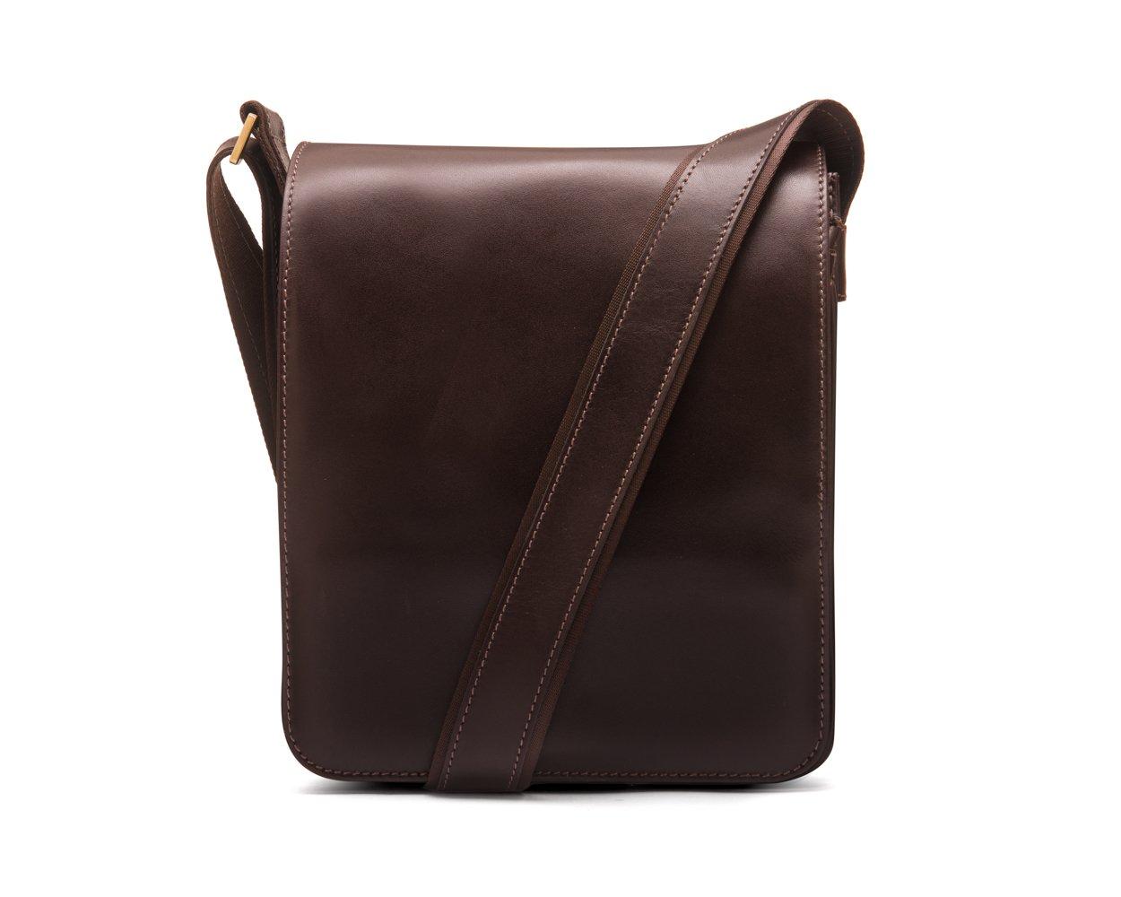 SAGEBROWN Brown A4 Portrait Messenger Bag