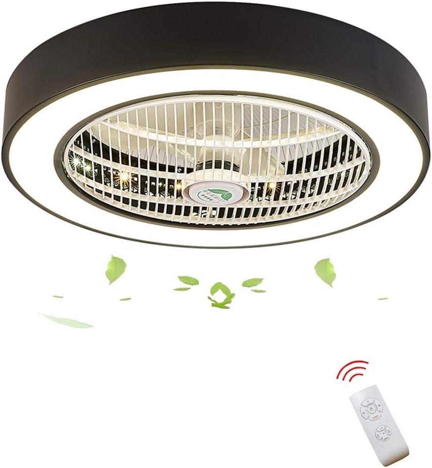 Zzxyxdd Luz de Ventilador de Techo contemporánea Acabado en níquel Cepillado con aspa de Ventilador ABS, Incluye luz LED y Control Remoto
