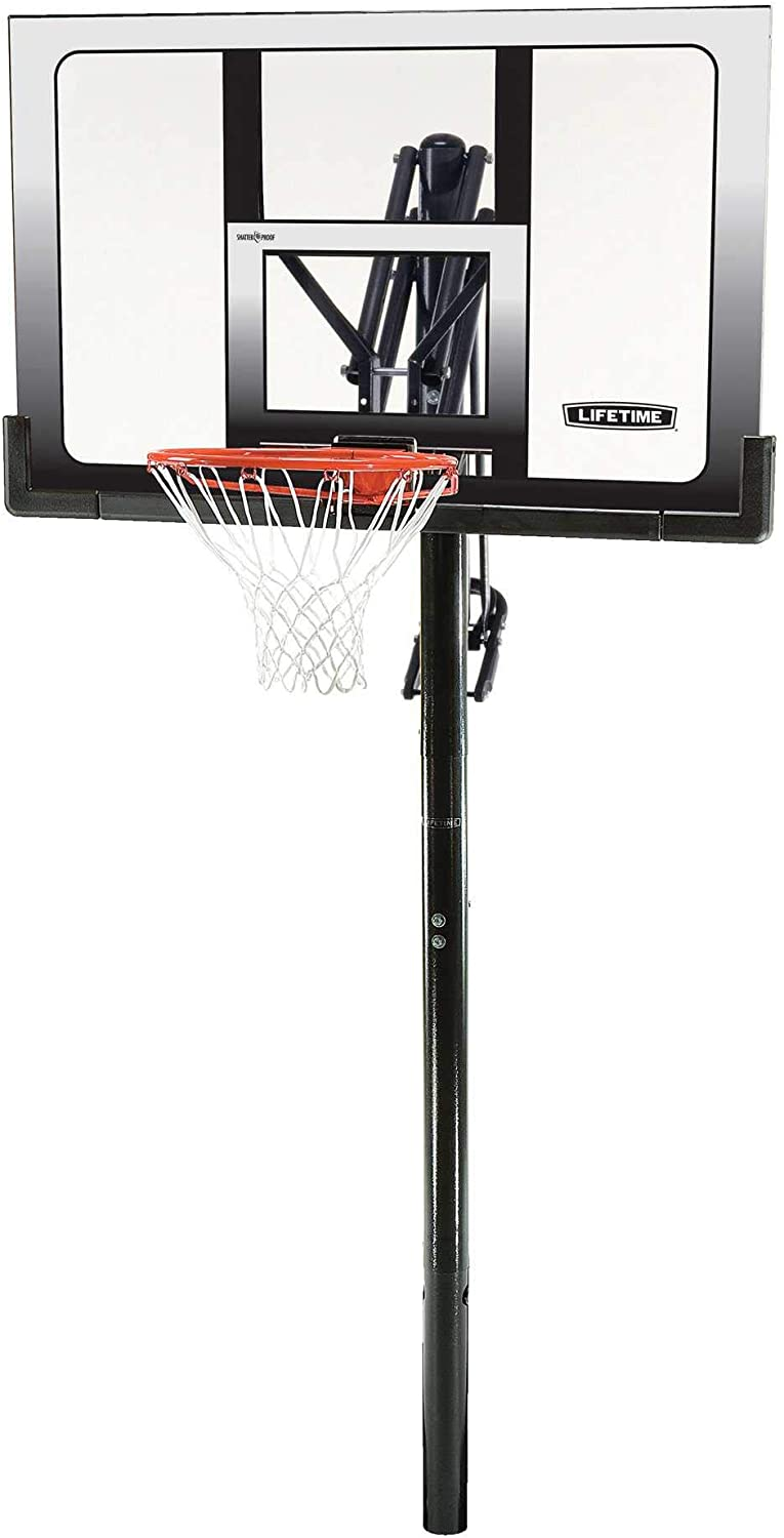 #4 Lifetime 71281 In-Ground Power Lift Basketball System