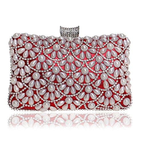 Red YHB417 Rojo mujer al para BESTWALED hombro Red 1 Bolso wA60Zqz
