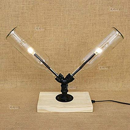 Vampsky 2-Luces Loft Retro Lámpara de Mesa Industrial ...