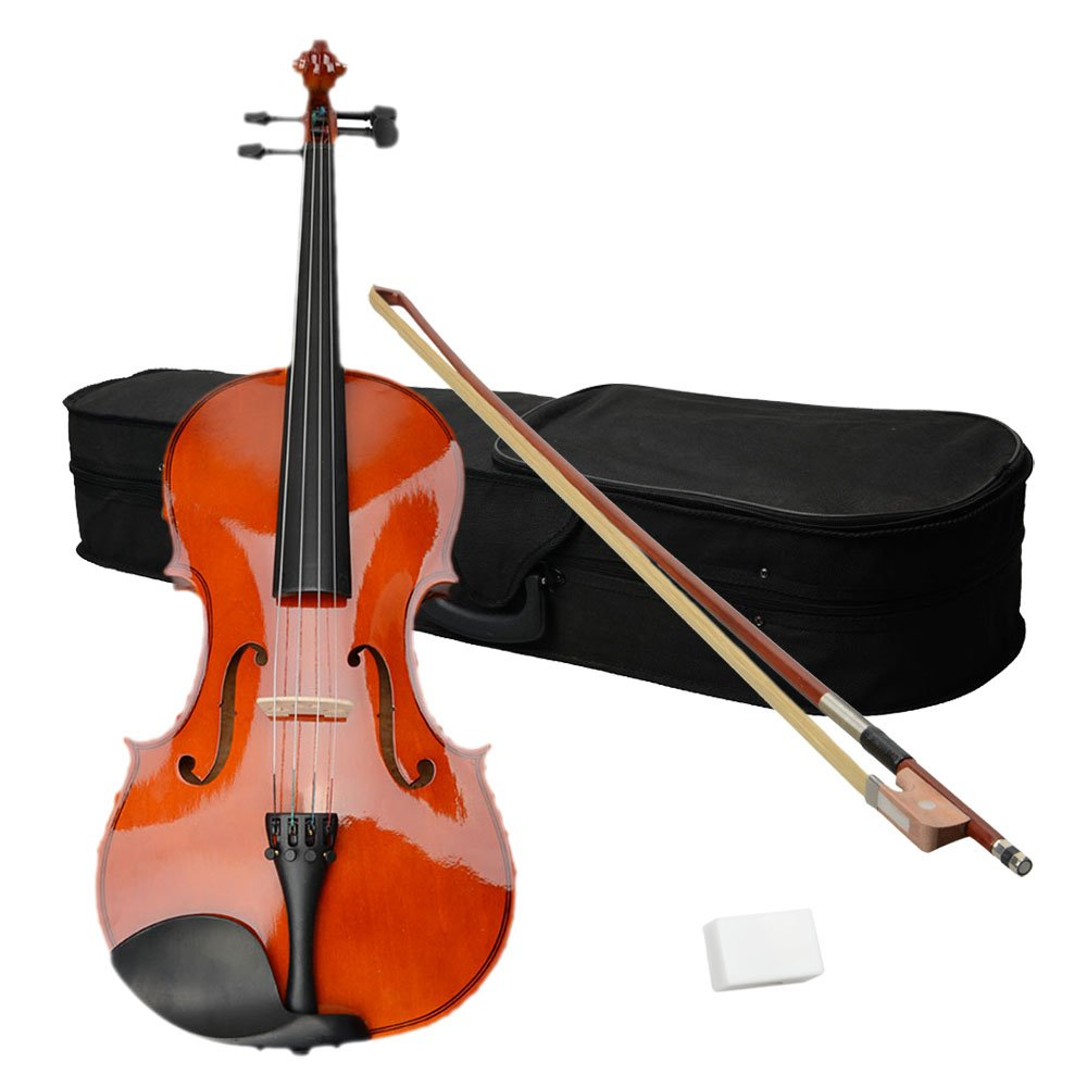 VIPITH 16'' Acoustic Viola Case Bow Rosin Nature Color