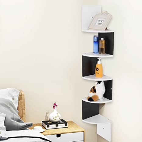 GOTOTOP Mensola Design da Muro di 5 Ripiani,Mensola a Muro per ...