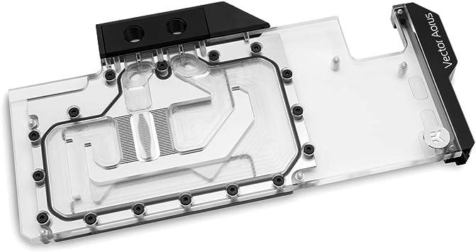 Acryl VGA-Cooler EK Water Blocks EK-Vector Strix RTX 2080 Ti RGB Nickel