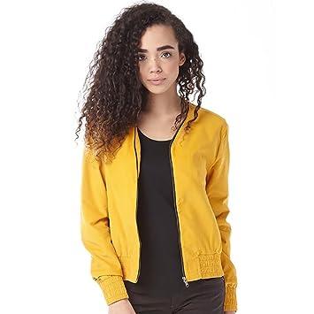 adidas Damen Jacke Gelb senffarben Gr. M, senffarben: Amazon