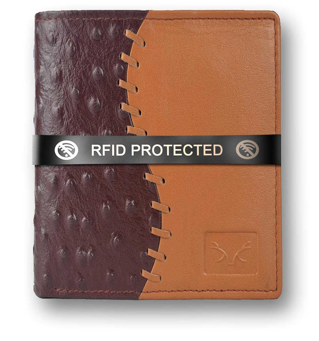 Stylish Brown and Tan RFID Protected Genuine Leather Wallet