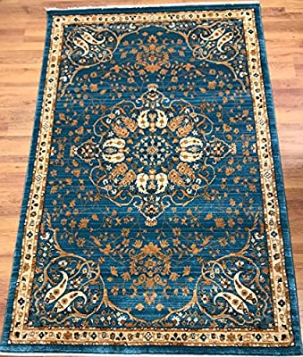 Antep Rugs ORIENTAL Collection FLAME Vintage Area Rug