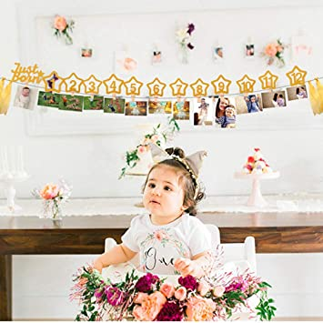 Mary Paxton Baby Monthly Milestone Photo Banner12 Months Frame Banner For Newborn To