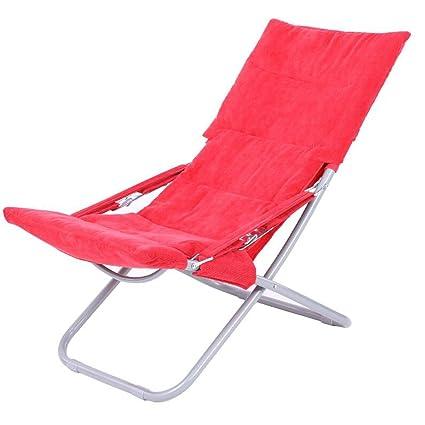 Rollsnownow Red Chaise Longue Pieghevole Lunch Break Chairs Poltrona ...