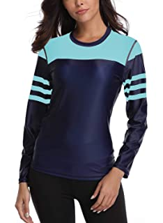 0e04f7841f Taylover Women's Swim Shirt Rash Guard Long Sleeve Rash Guard UPF 50+  Swimwear
