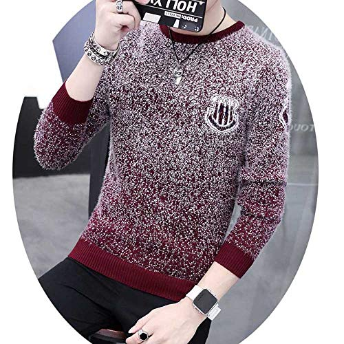Sevem-D Autumn Winter Casual Sweater Men Pattern Knitted Pullovers Slim Fit Male 66132a XL