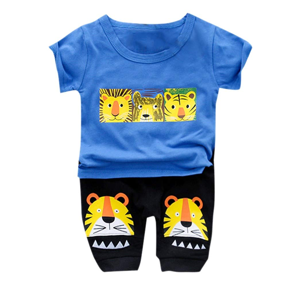 ShaDiao Neugeborenes Baby Mädchen Warm T-Shirt Top + Hose Outfits Set Kleidung Set,Kleinkind Kind Baby Jungen Mädchen Bär T-shirt T Tops Shorts Hosen Outfits Set