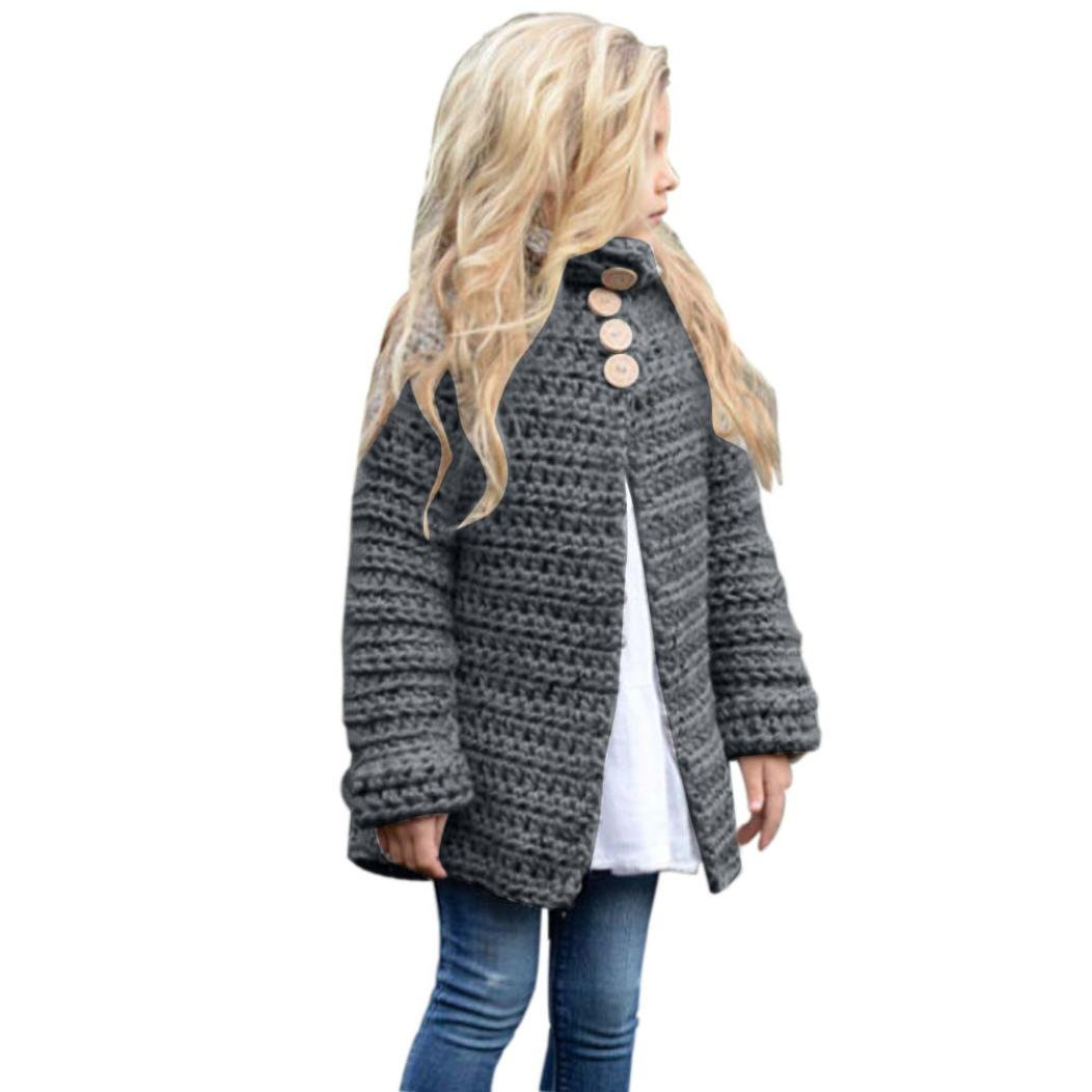 Orangeskycn Warm Blouse, Kids Baby Girls Coat Outfit Clothes Button Knitted Sweater Cardigan Tops