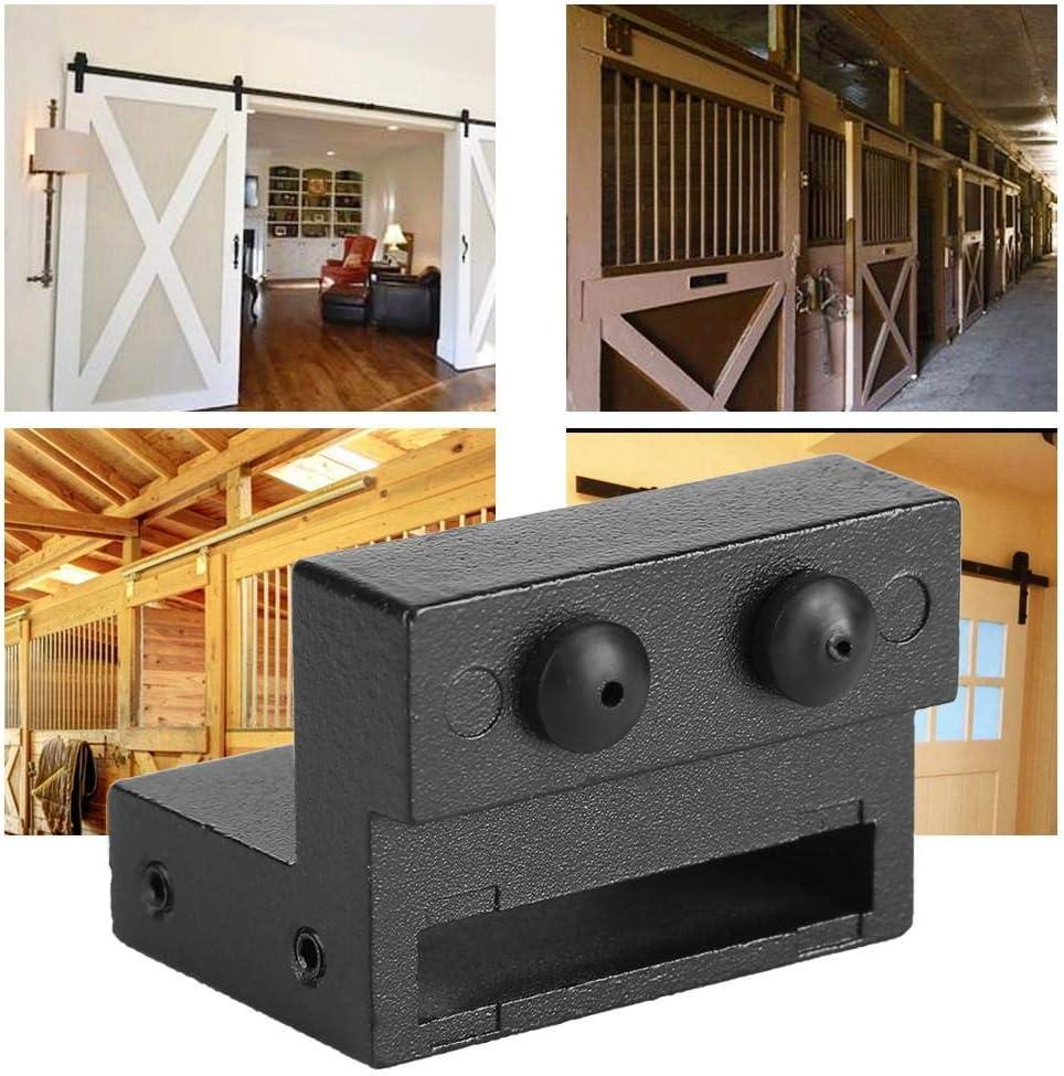 Door Stopper Replacement Part Carbon Steel Door Stops for Barn Door Guide for Rail Track Accessories Door Sliding Barn Door Hardware Black