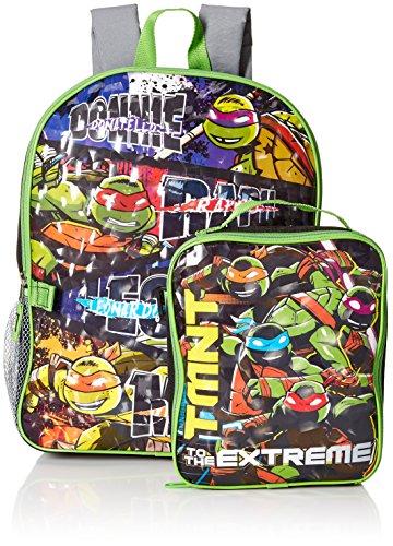 Teenage Mutant Ninja Turtles Boys' Backpack with Lunch (Ninja Turtle Backpack)