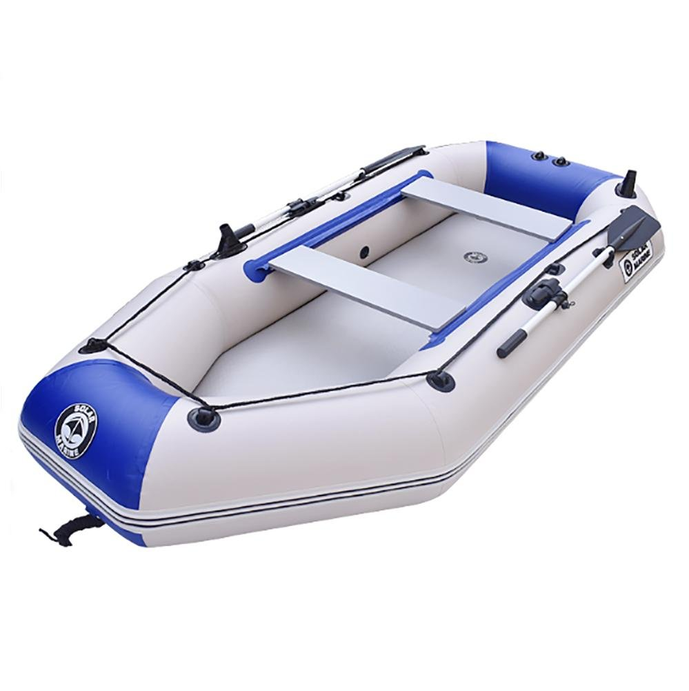 NUOAO 2-Persona Botes inflables Barco Hinchable Remo y remos