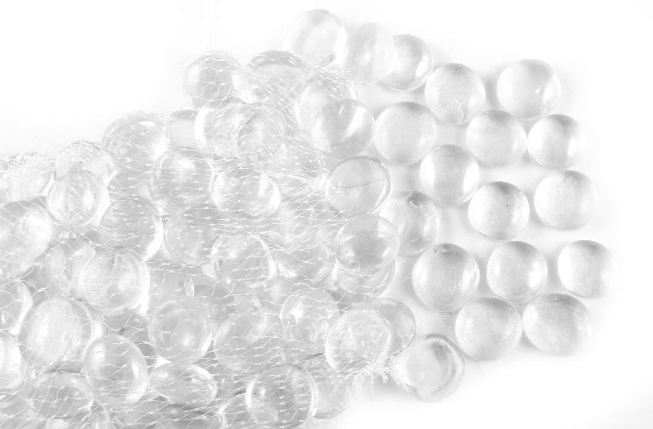 ARSUK Piedras Decorativas, Piedras Preciosas Perlas, Guirnalda Decorativa de Cristal, Piedras Redondeadas Preciosas