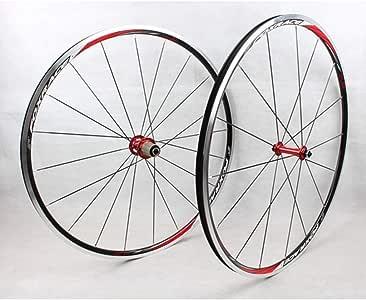 MZPWJD Juego Ruedas 700C para Bicicleta Carretera Rueda Bicicleta Llanta Aleación Doble Pared 23mm Freno Llanta con Liberación Rápida 7-11 Velocidad 1560g (Color : Red): Amazon.es: Deportes y aire libre