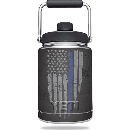 8b56215b5d Mightyskins Skin for Yeti Rambler Half Gallon Jug - Thin Blue Line  Protective, Durable,